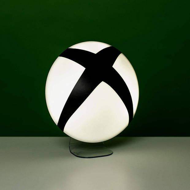 Paladone Xbox logo nachtlamp op standaard 20 cm wit/zwart