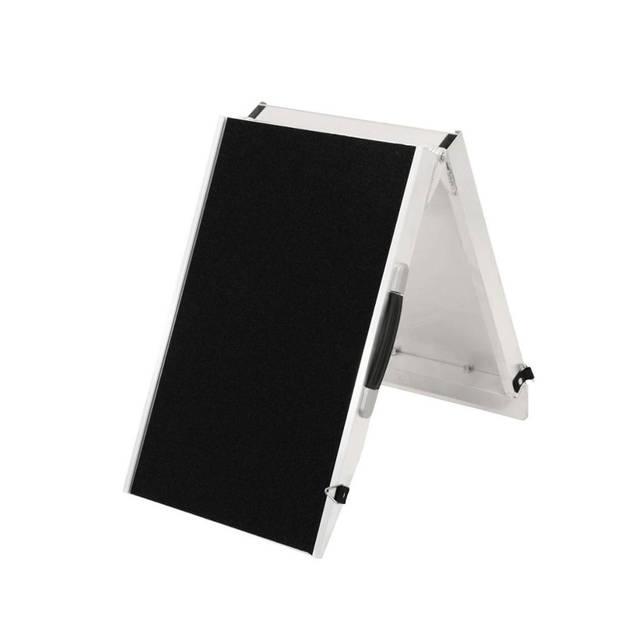 4animalz hondenloopplank opvouwbaar - aluminum - 183x38x5cm - large