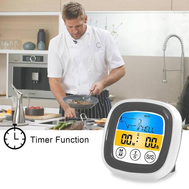 4cookz Touchscreen BBQ thermometer /Vleesthermometer - 0-250 graden