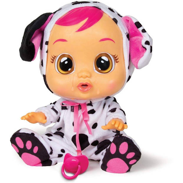 IMC huilende babypop Cry Babies Dotty 30,5 cm wit/roze