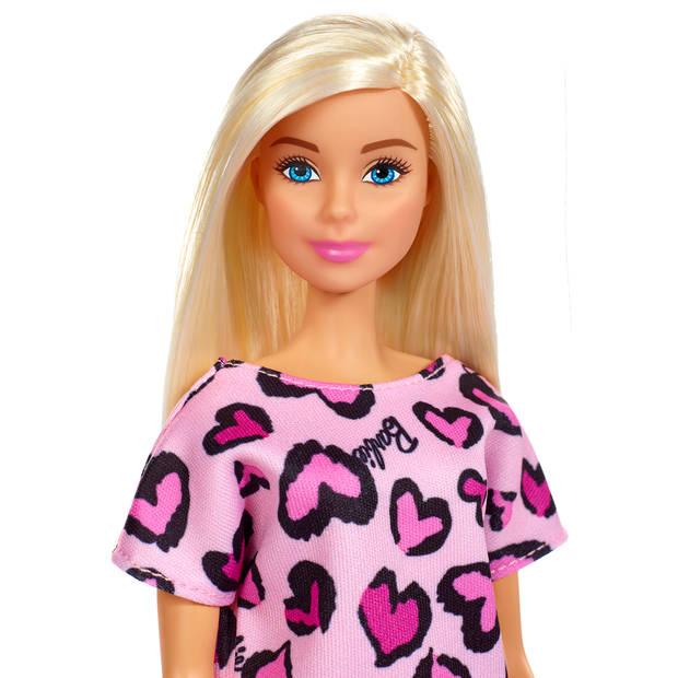 Barbie pop met klassieke outfit - Roze jurk
