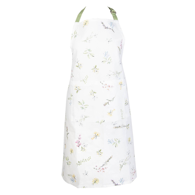 Clayre Eef Schort 70*85 Cm Meerkleurig 100 Katoen Bloemen Hfl41