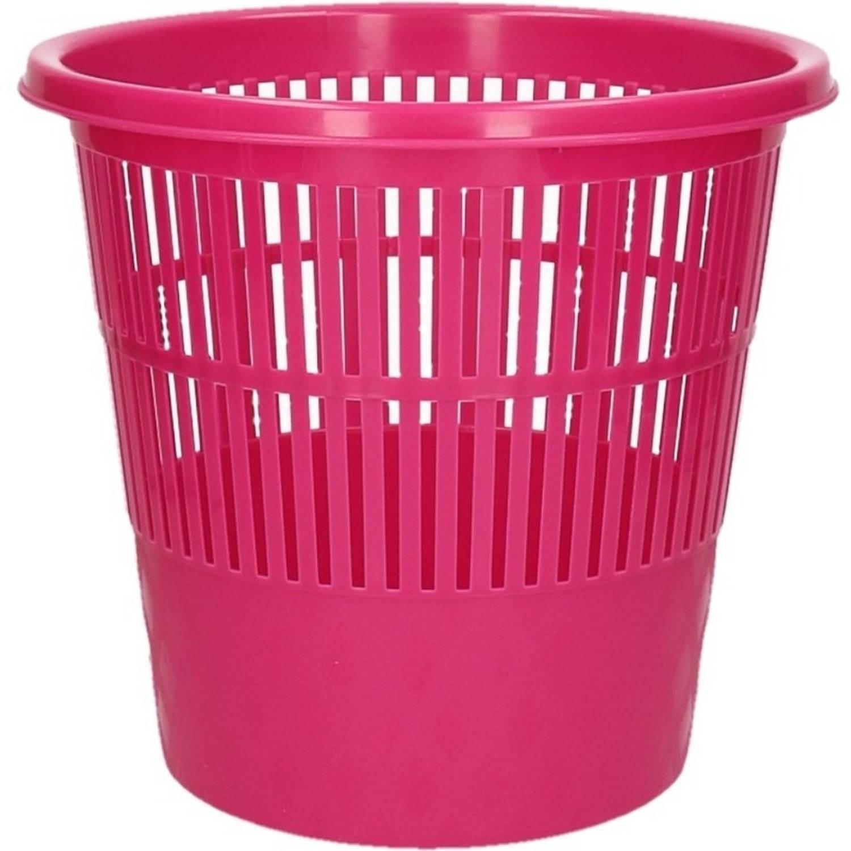 Roze Vuilnisbak/prullenbak 20 Liter - Voordelige Huishoud Prullenbakken/vuilnisbakken/afvalbakken