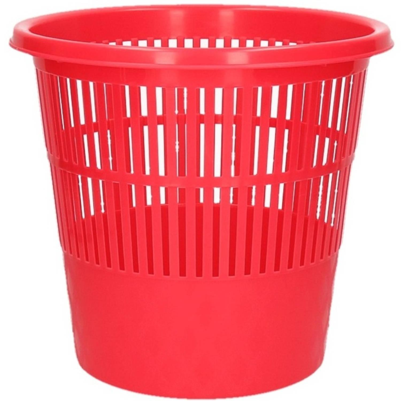 Rode Vuilnisbak/prullenbak 20 Liter - Voordelige Huishoud Prullenbakken/vuilnisbakken/afvalbakken