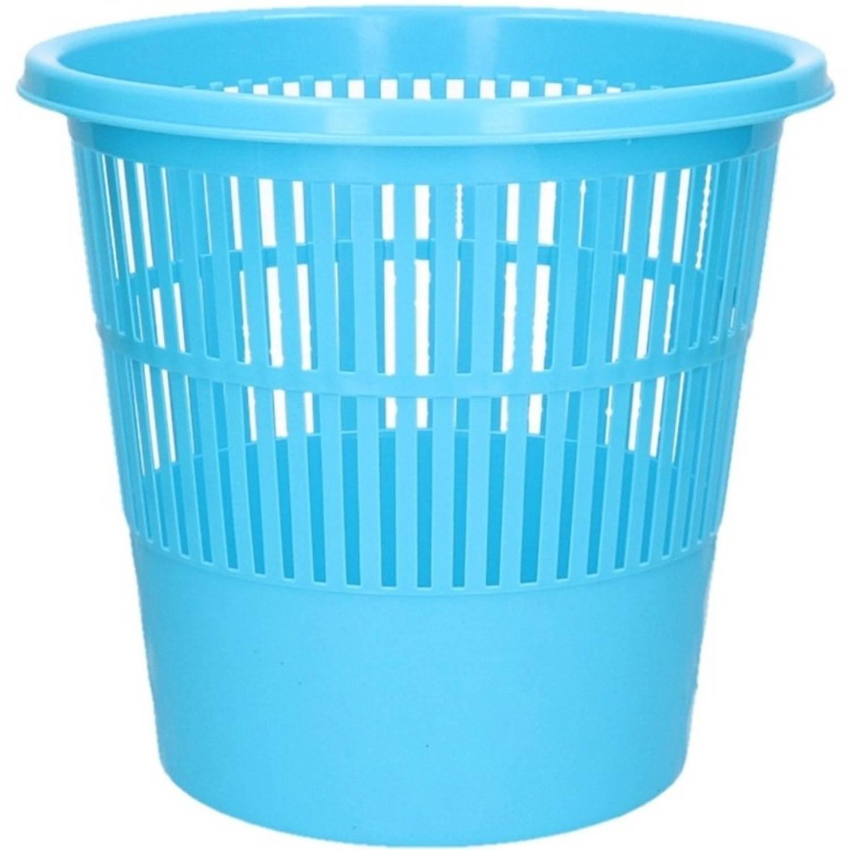 Blauwe Vuilnisbak/prullenbak 20 Liter - Voordelige Huishoud Prullenbakken/vuilnisbakken/afvalbakken