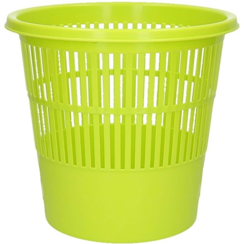 Groene Vuilnisbak/prullenbak 20 Liter - Voordelige Huishoud Prullenbakken/vuilnisbakken/afvalbakken