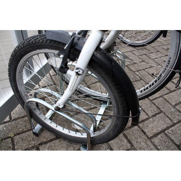 Fietsenrek voor 3 fietsen - metaal - fietsbeugel / fietsenstandaard muurbevesting en grondbevestiging