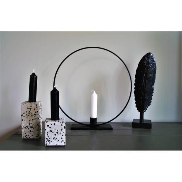 Housevitamin kandelaar terazzo - kaarsenstandaard blok - 6cm hoog