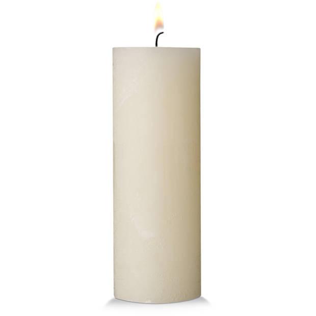 Blokker rustieke cilinderkaars - crème - 7x19 cm