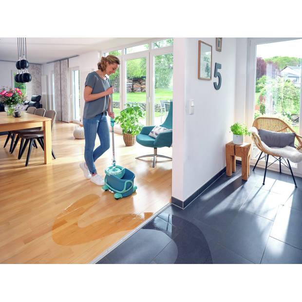 Leifheit Clean Twist Disc Mop Ergo - Dweil set compleet systeem met wieltjes - 6 L