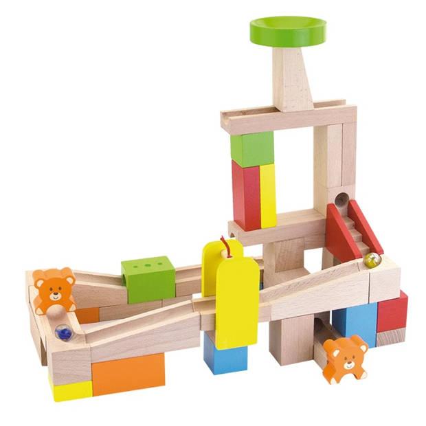 Viga Toys knikkerbaan bouwpakket 49-delig