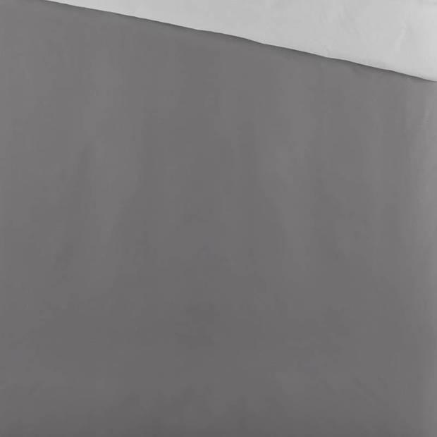 Byrklund Side Way dekbedovertrek - Lits-jumeaux (240x200/220 cm + 2 slopen) - Katoen - Antraciet/Licht Grijs
