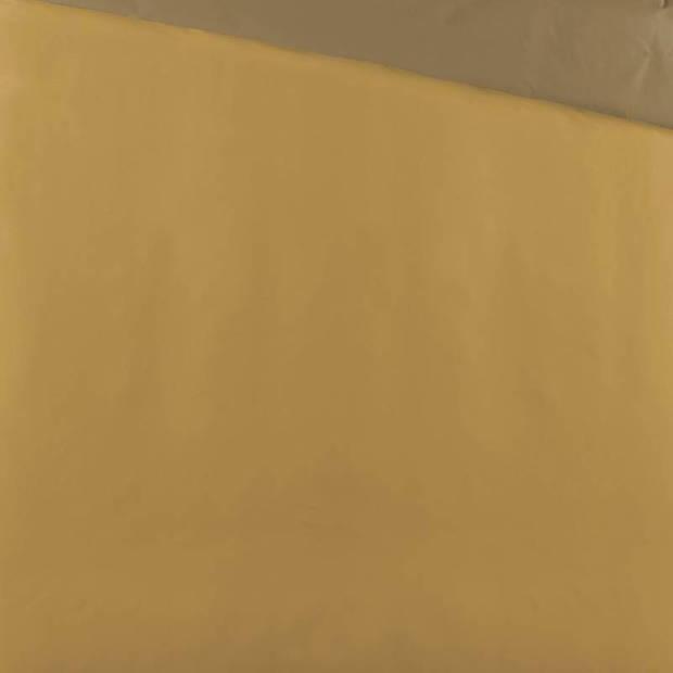 Byrklund Side Way dekbedovertrek - 1-persoons (140x200/220 cm + 1 sloop) - Katoen - Geel/Mosterd