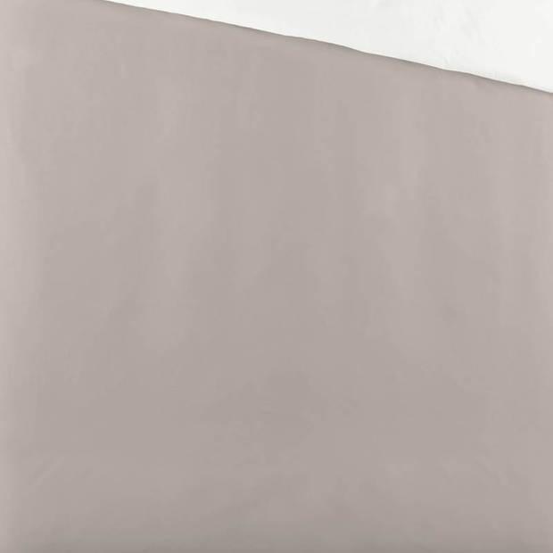Byrklund Side Way dekbedovertrek - 1-persoons (140x200/220 cm + 1 sloop) - Katoen - Zand/Wit