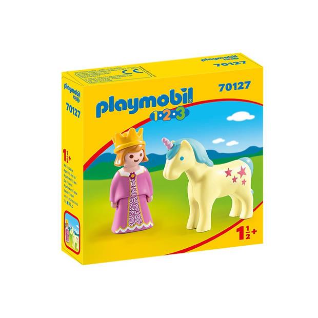 PLAYMOBIL 1, 2, 3 - Prinses en eenhoorn (70127)