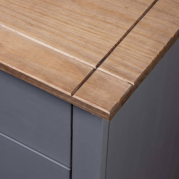 vidaXL Nachtkastje Panama Range 46x40x57 cm grenenhout grijs