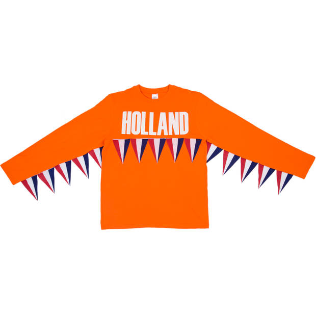 T-shirt vlaggenlijn Nederland S-M