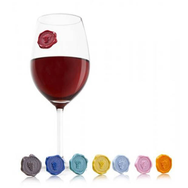 Vacu Vin Set van 2 pakjes - Glas Markers - Zegel - Vacuvin