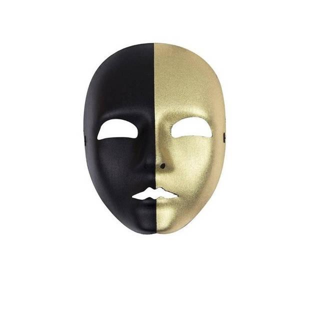 Masker goud / zwart voor volwassenen - gezichtsmasker/ verkleedmasker