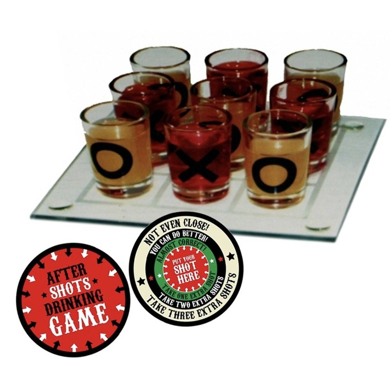 Drankspel-drinkspel Boter Kaas En Eieren Bordspel Feestartikelen Met After Shots Bierviltjes 10x
