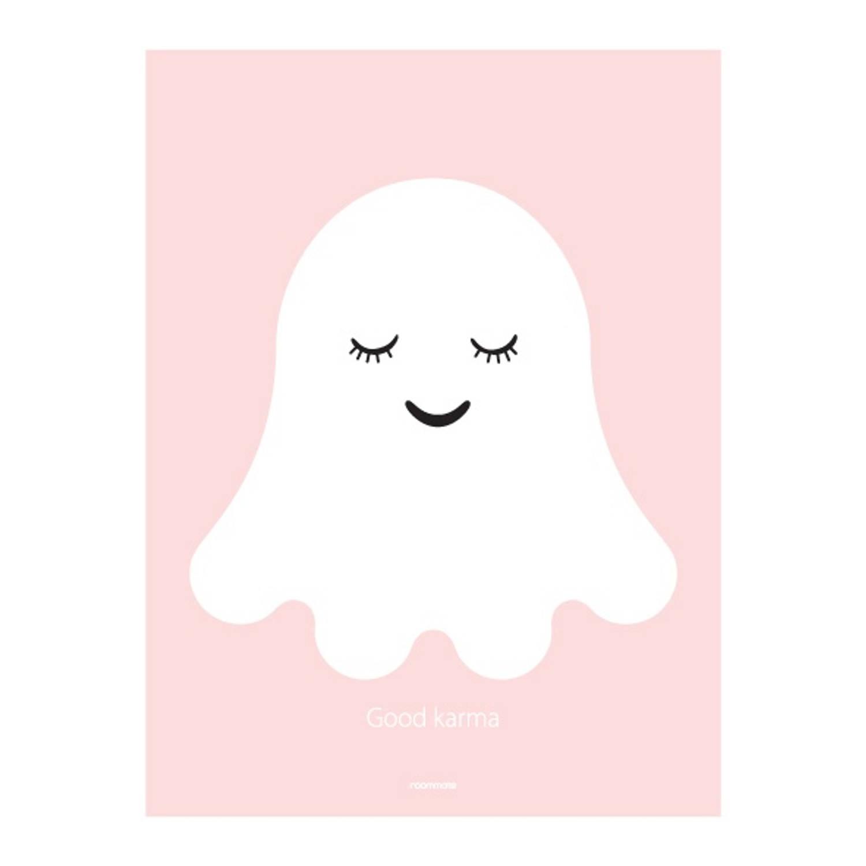 Roommate Poster Spookje 30 X 40 Cm Roze/wit