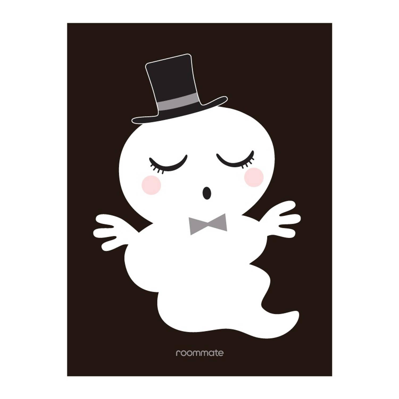 Roommate Poster Meneer Spook 30 X 40 Cm Zwart/wit