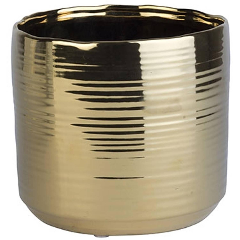 Cosy & Trendy Bloempot - Ø 16,5 X 15 Cm - Zilver