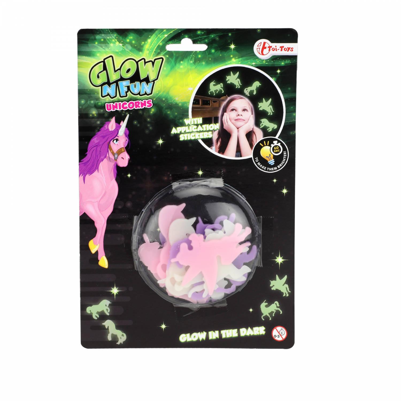 Toi-toys Glow In The Dark Vormen Eenhoorns 12-delig