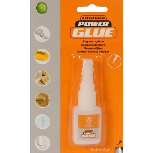 Power glue alles lijm tube 5 gram - Knutsel superlijm tube