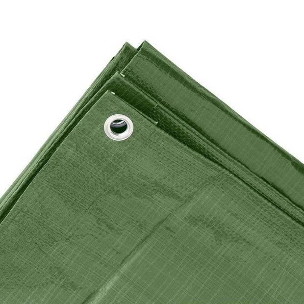 Groen afdekzeil / dekzeil - 2 x 3 meter - 100 grams kwaliteit - dekkleed / grondzeil