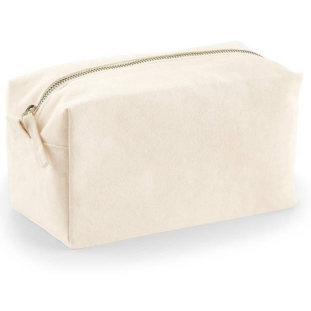 Toilettas/make-up tas naturel 21 cm voor heren/dames - Reis toilettassen/make-up etui - Handbagage