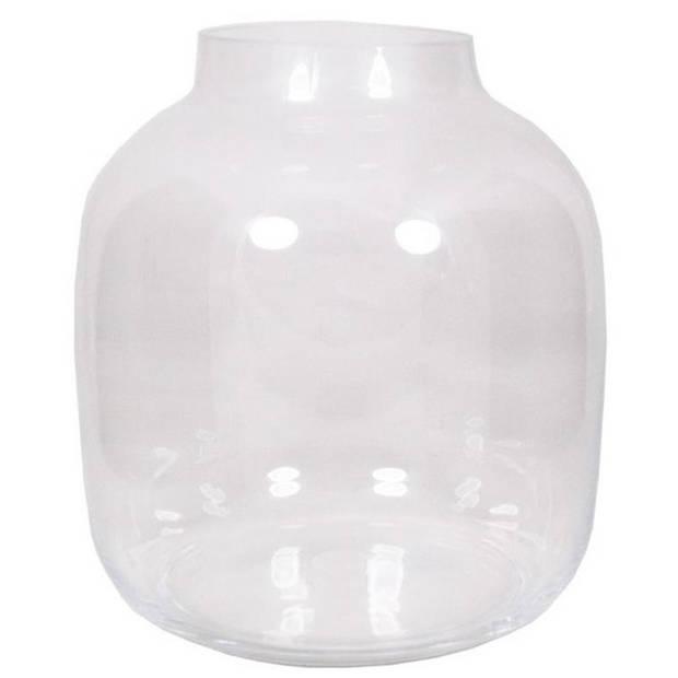 Ronde vaas helder glas 29 cm - Bolvormige bloemenvazen van glas