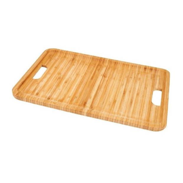 Bamboehouten dienblad/serveerblad 43 cm - Dienbladen van hout