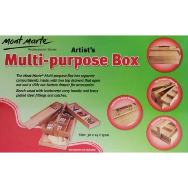 Mont Marte® houten opbergkist tekenkist schilderskist