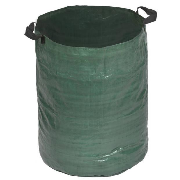 Groene tuinafvalzakken opvouwbaar 120 liter - Tuinafvalzakken - Tuin schoonmaken/opruimen - Tuinonderhoud