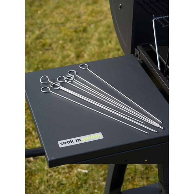 10x Barbecue spiezen/vleespennen/vleesspiezen 30 cm - Metaal - Barbecue benodigdheden - Spiezen/pennen voor vlees