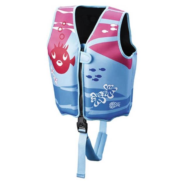 Beco zwemvest meisjes roze/blauw maat S