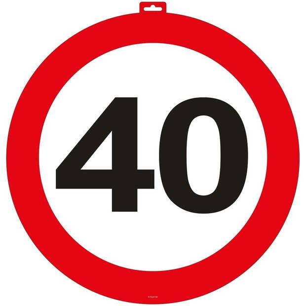 40 Jaar verkeersbord deurbord 47 cm