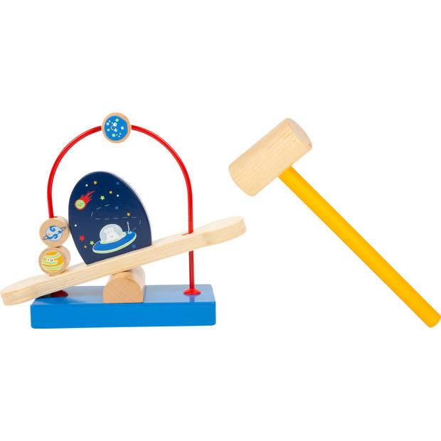 Small Foot hamerbank Space hout junior 20 cm 2-delig