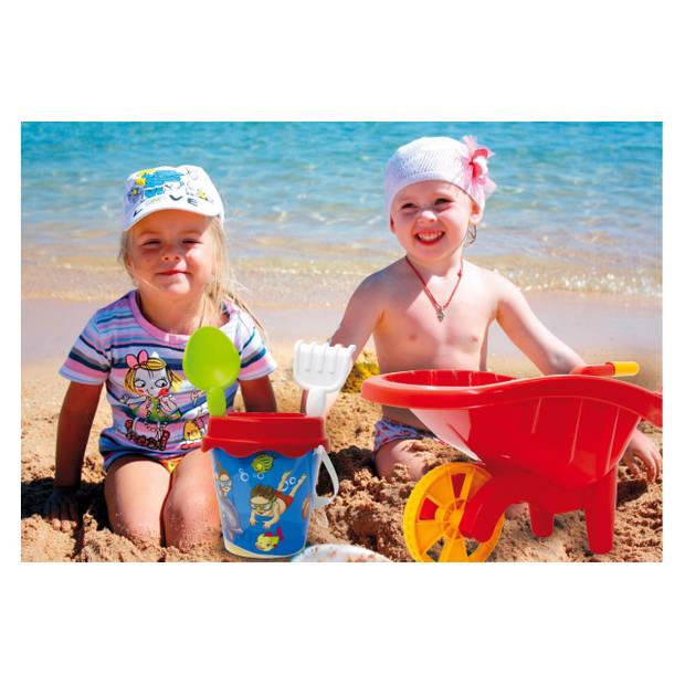 Jamara kruiwagen met zandbakset junior 60 cm rood 6-delig