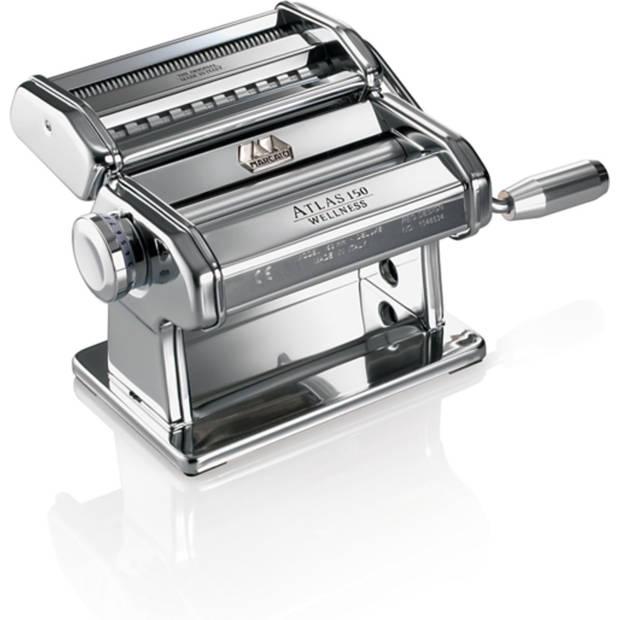 Marcato Atlas 150 - Pastamachine met Verwisselbare Kop - Chroom/Aluminium