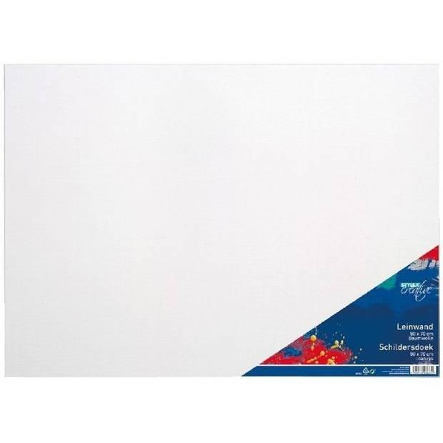 3x Canvas schildersdoeken 50 x 70 cm voor hobby verf schilderen - hobby materialen artikelen