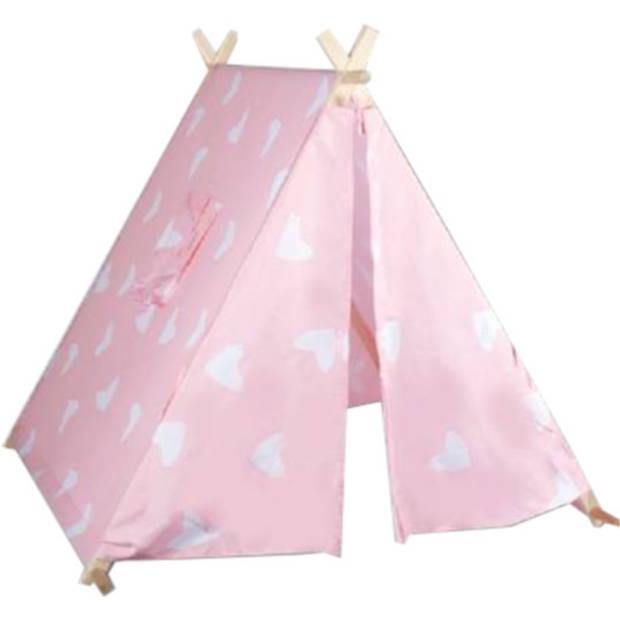 Eddy Toys speeltent Tipi 116 x 110 x 100 cm meisjes roze