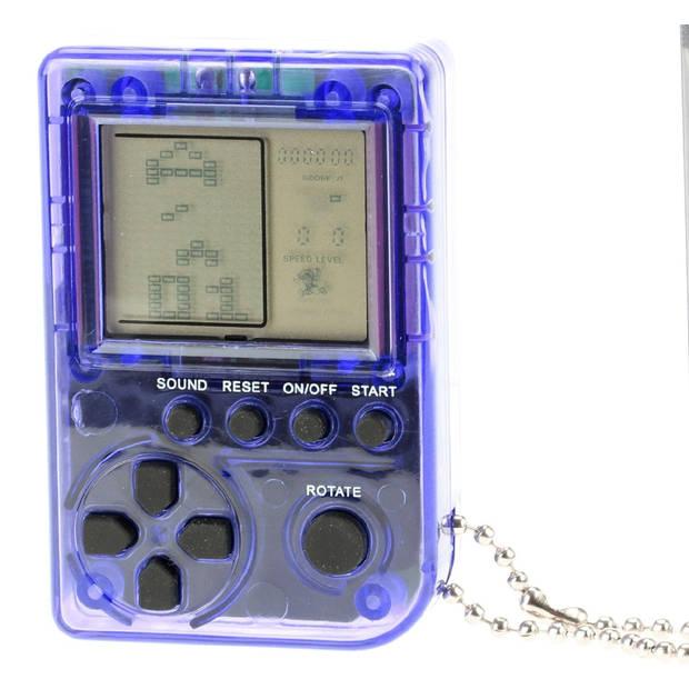 Toi-Toys mini gamebox sleutelhanger 5 cm blauw