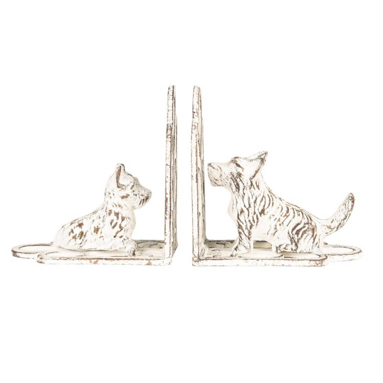 Clayre & Eef Boekensteun (2) hond 15x7x15 cm