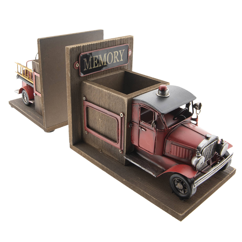 Boekensteun en penhouder Brandweerauto