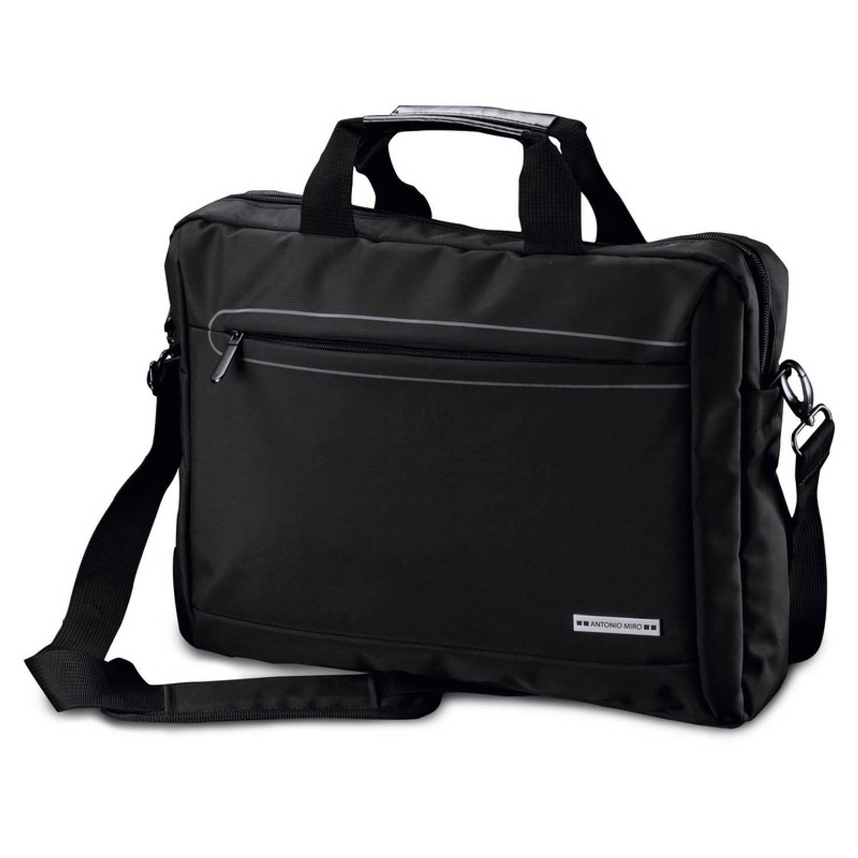 Aktetas-laptoptas 15,6 inch zwart 10 liter zakelijke schoudertassen