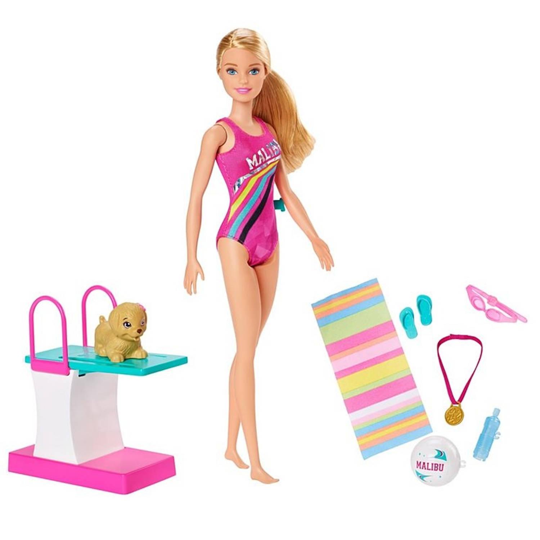 Barbie Dreamhouse Adventures Swim 'n Dive pop 30 cm accessoires
