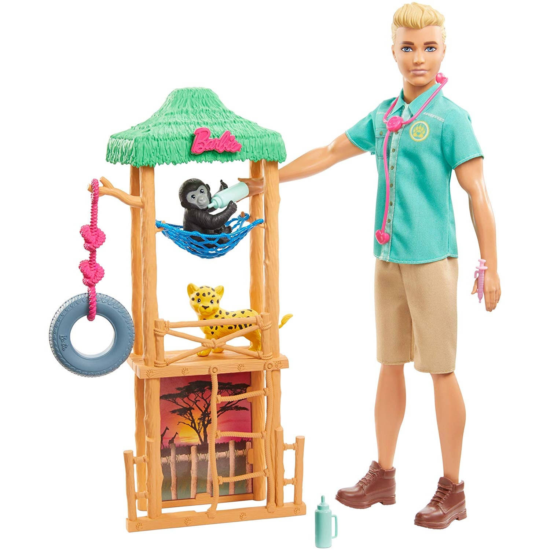 Barbie tienerpopset Ken dierenarts 30 cm accessoires