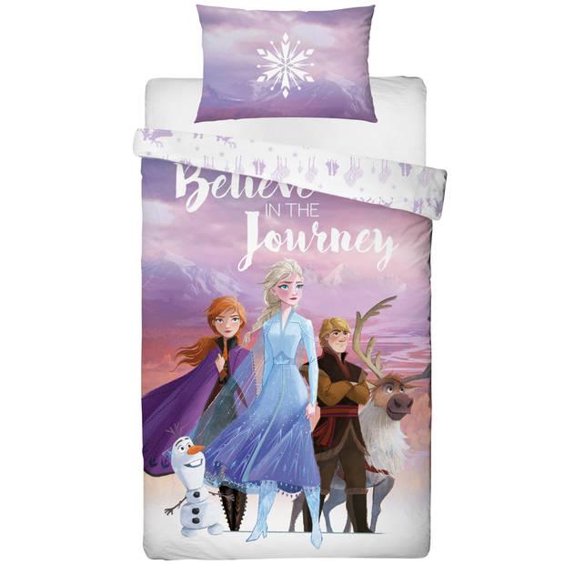 Disney Frozen Journey - Dekbedovertrek - Eenpersoons - 135 x 200 cm - Multi